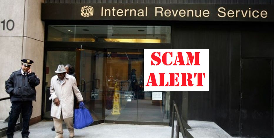 IRS SCAM Image credit: Foxbusiness.com