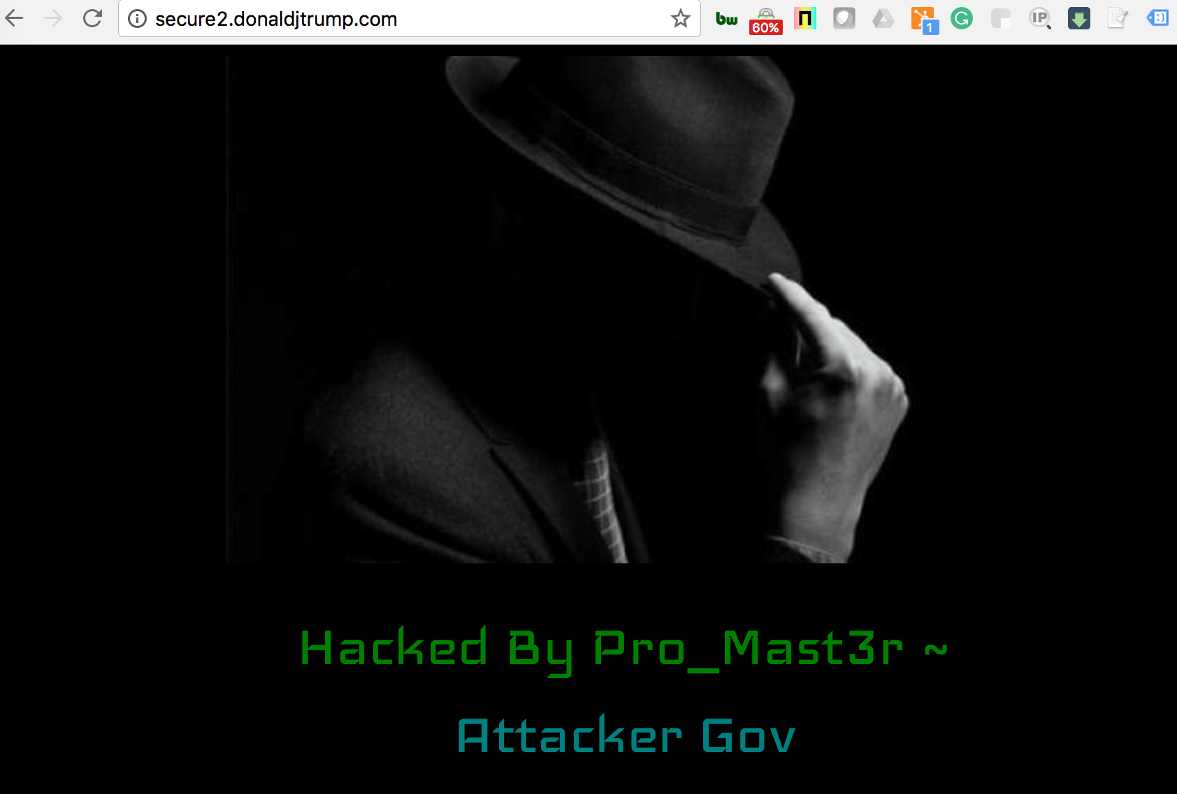 Donald Trump website subdomain defaced