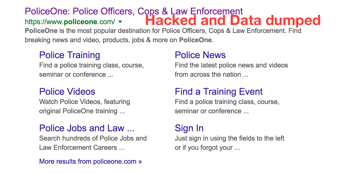 PoliceOne hacked – Thousands of accounts on sale